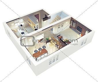 Plan view of an apartmen