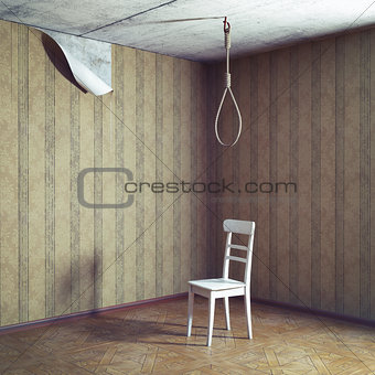 chair and noose