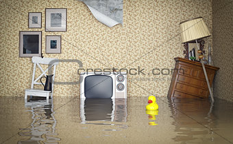 Flooded interior