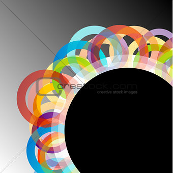 Background with colorful rings