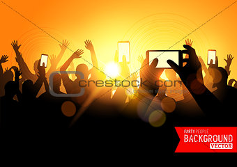 Festival Crowd Vector