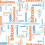 bitcoin text seamless pattern