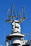 The ship's antennas