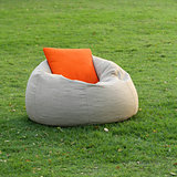 Fabric chair with pillow
