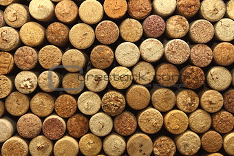 background texture with wine corks