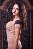 young beautiful teenager in dress