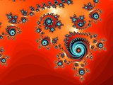 Patterned fractal background with spirals