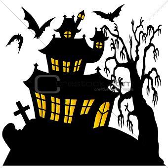 Silhouette spooky house 02