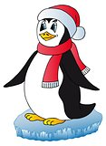 Penguin with Xmas cap