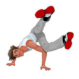 Funny breakdancer