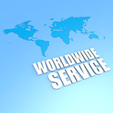 Worldwide service world map