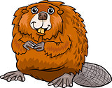 beaver animal cartoon illustration