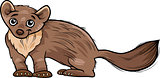 marten animal cartoon illustration