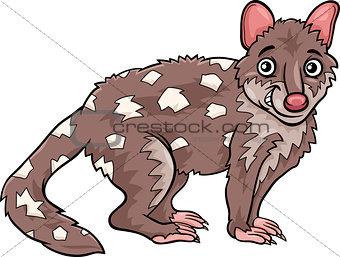 tiger quoll animal cartoon illustration