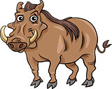 warthog animal cartoon illustration