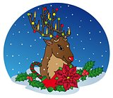 Reindeer with Xmas decoration