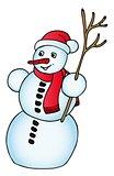 Snowman with Xmas cap