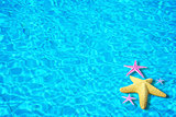 Water background with starfish