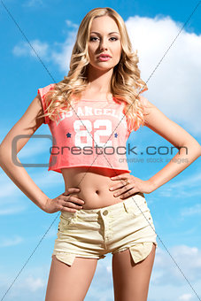 amazing blonde summer girl
