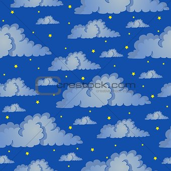 Seamless background night sky