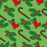 Seamless background Xmas mistletoe