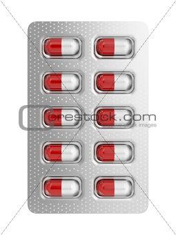Capsules in blister pack