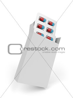 Capsules in white box