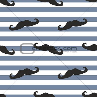 Tile mustache and strip vector background