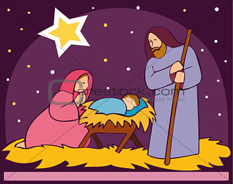 Baby Jesus in a manger 2