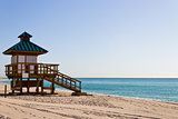 Lifeguard hut in Sunny Isles Beach, Florida