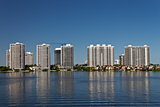 Condominium buildings in Miami, Florida.