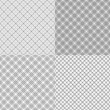 Four mesh seamless patterns with dashed lines