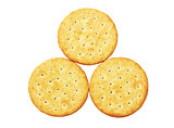 Three Round Crackers