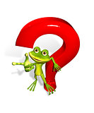 frog with a question mark