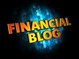 Financial Blog- Gold 3D Words.