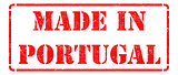 Made in  Portugal- inscription on Red Rubber Stamp.