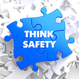 Think Safety on Blue Puzzle.