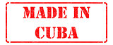 Made in Cuba - inscription on Red Rubber Stamp.