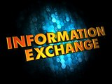 Information Exchange - Gold 3D Words.