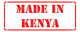 Made in Kenya - inscription on Red Rubber Stamp.