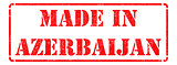 Made in Azerbaijan - inscription on Red Rubber Stamp.