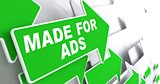 Made for Ads on Green Direction Arrow Sign.