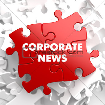 Corporate News on Red Puzzle.