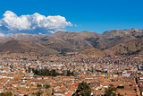 Cuzco city skyline Peru