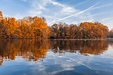 Minimes lake Vincennes forest Paris France