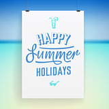 Summer holiday poster design