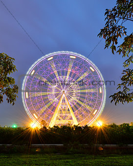 A big Ferris Wheel in the  children's park