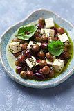 Feta with Olives in Olive Oil