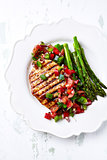 Honey and Lemon Glazed Turkey Fillet with Salsa