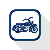 motorcycle flat icon